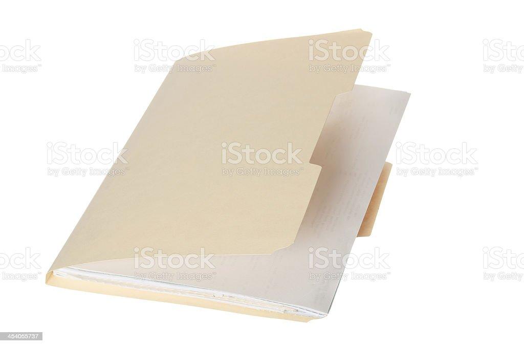 Single Manila File Folder royalty-free stock photo