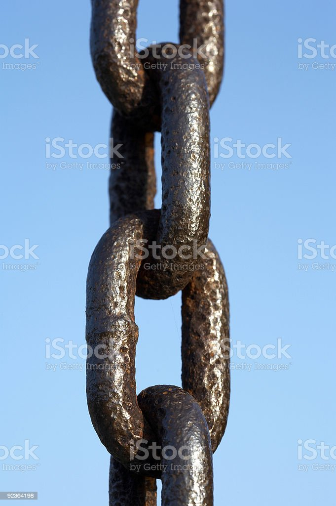 Single metal chain royalty-free stock photo
