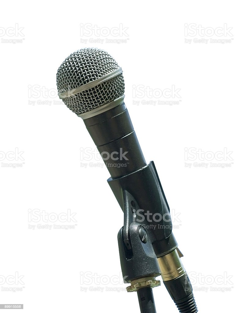 Single microphone royalty-free stock photo