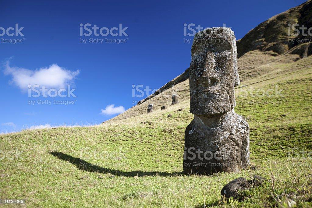 Single Moai royalty-free stock photo