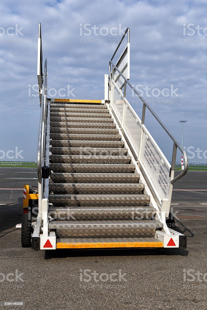 Single moving stairs stock photo