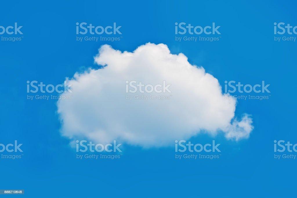 Single nature white cloud on blue sky background stock photo