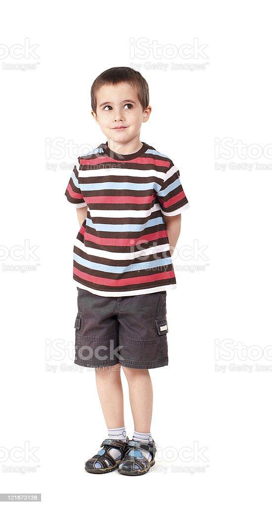 Eine freche kleine Junge schaut nach oben – Foto