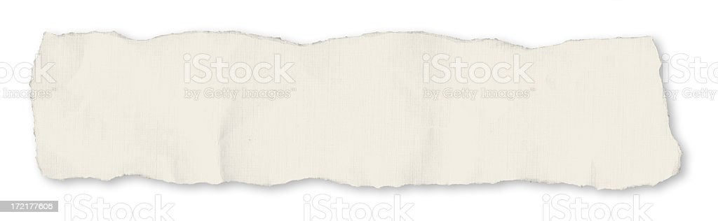 Single newspaper tear - on white royalty-free stock photo