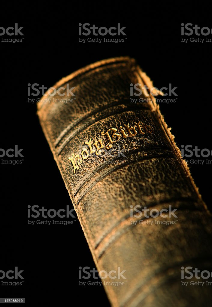 Single Old Bible stock photo