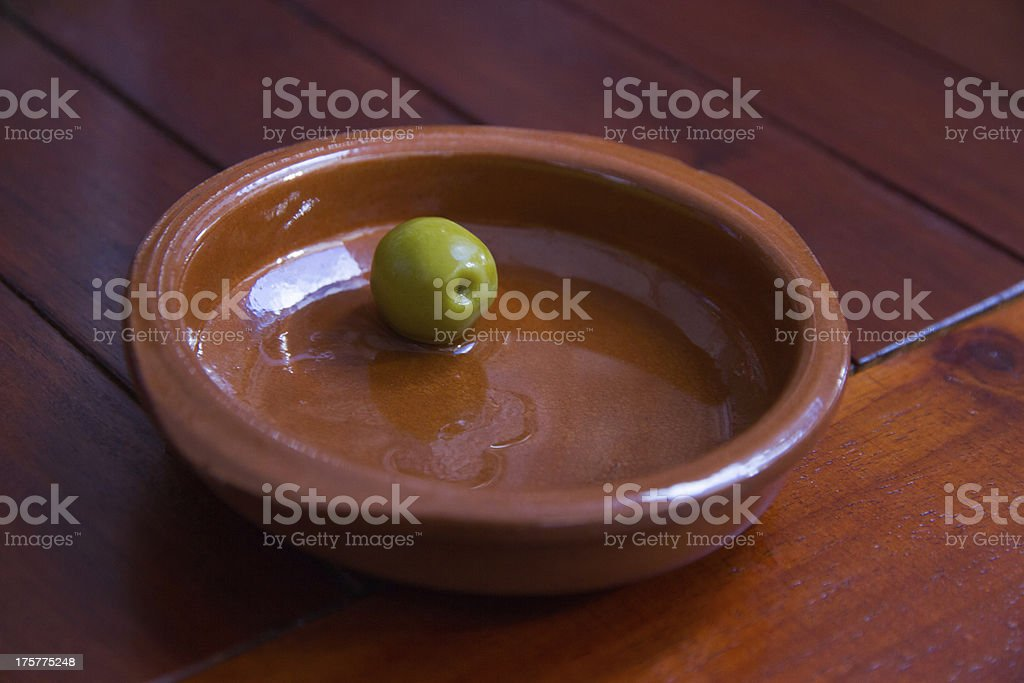 Single Olive - Aceituna Sola royalty-free stock photo