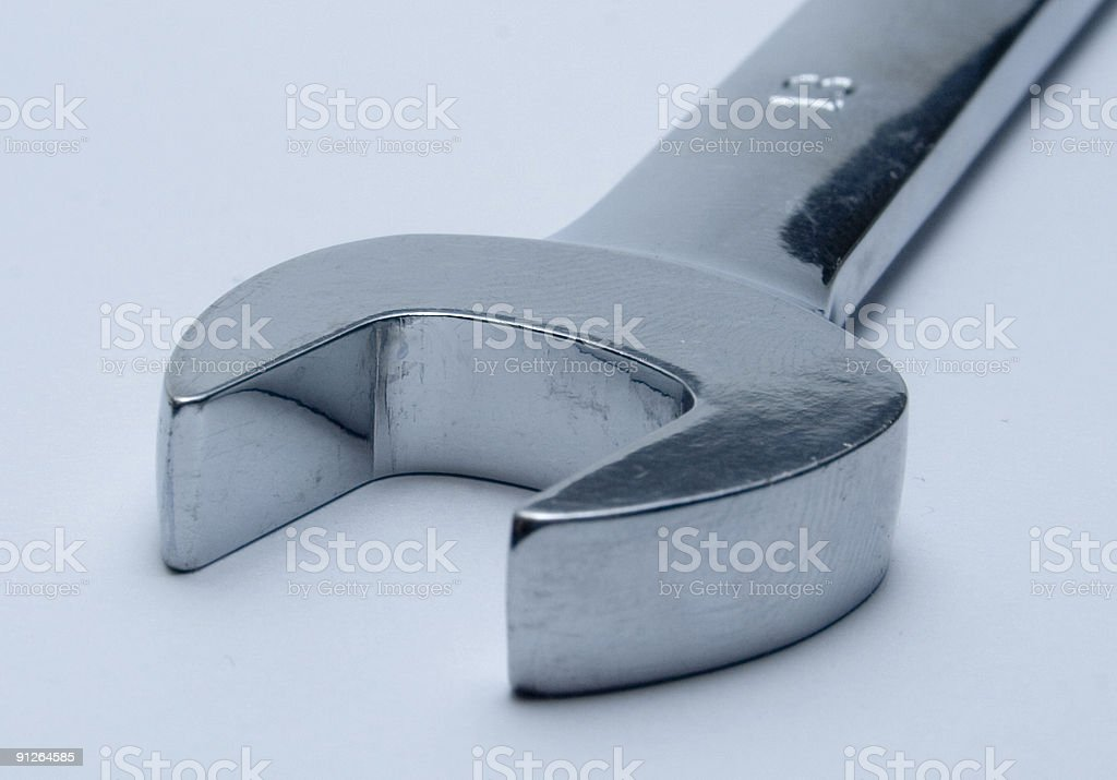SIngle open ended spanner or wrench royalty-free stock photo