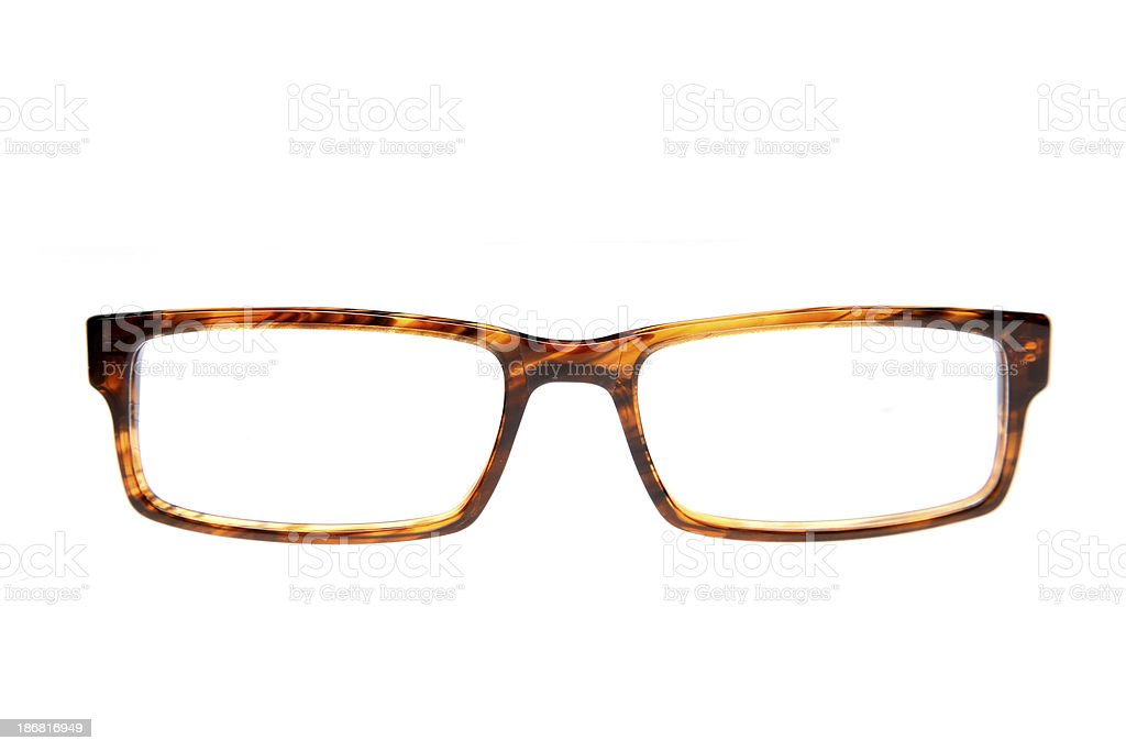 Single pair of glasses stock photo