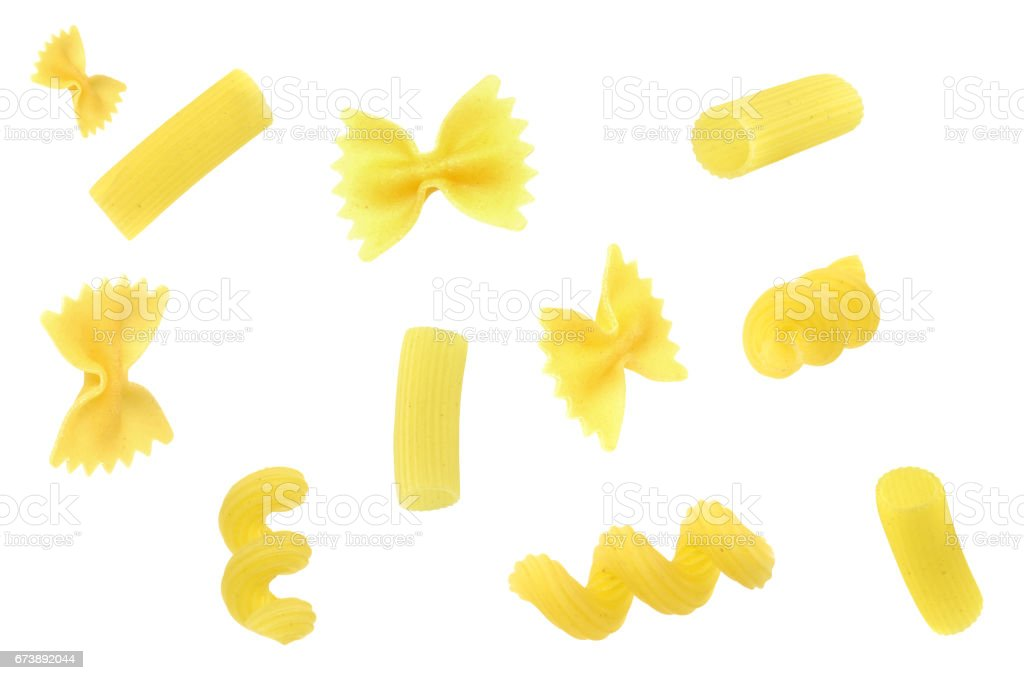 Single pasta pieces foto de stock royalty-free