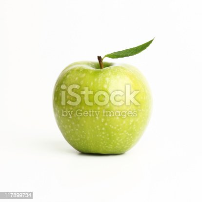 Green apple (isolated with clipping path)