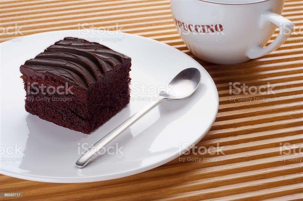 Single pice of chocolate cake royalty-free stock photo