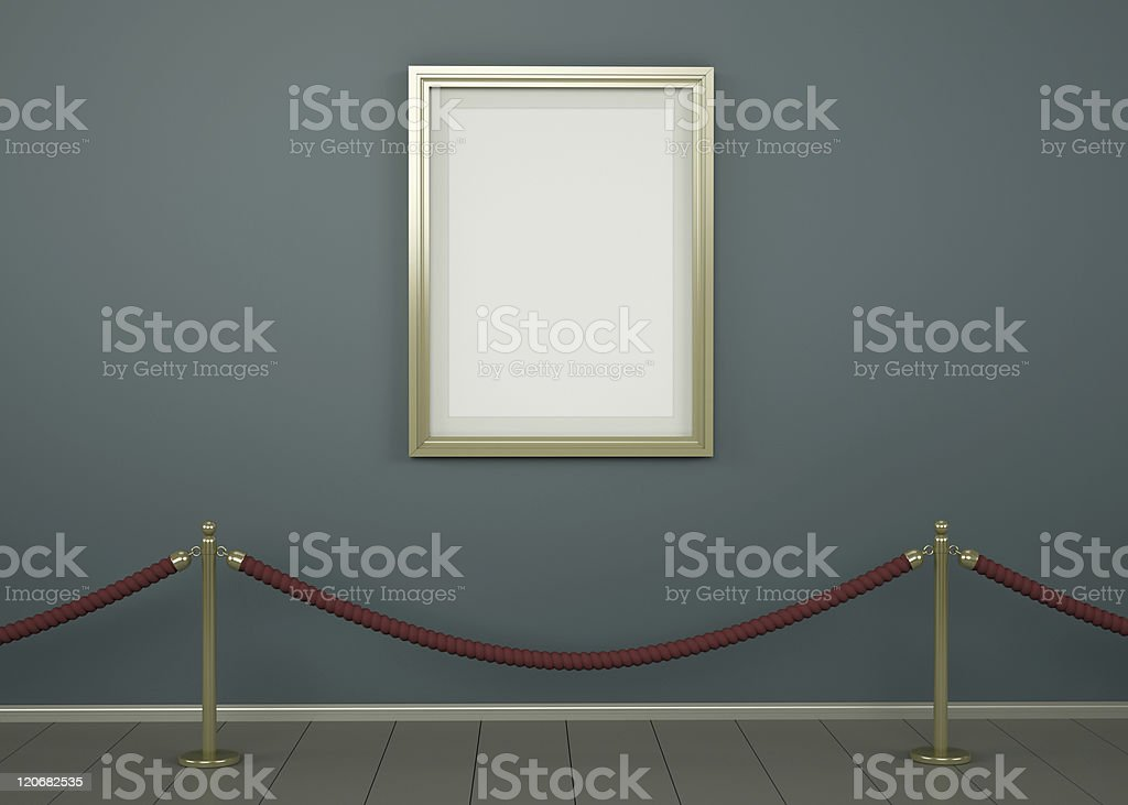 Single picture in a gallery royalty-free stock photo