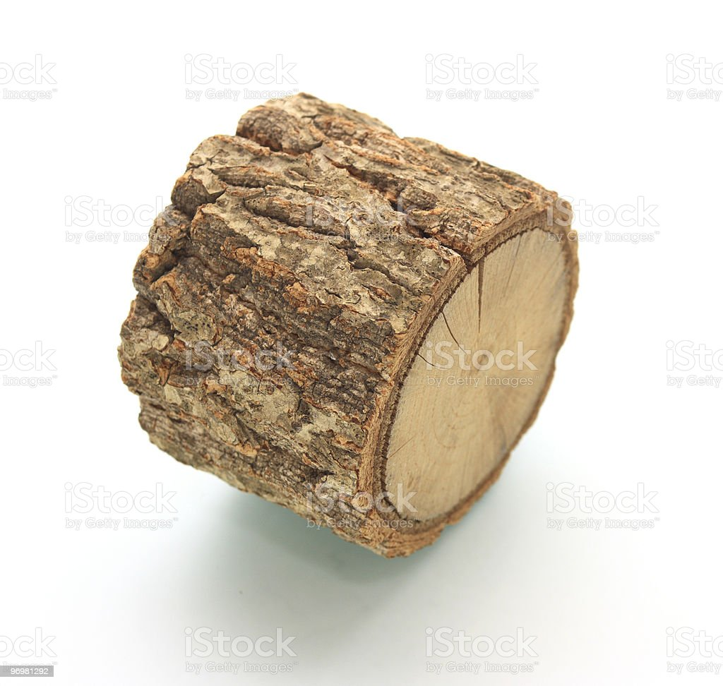Single piece of wood royalty-free stock photo