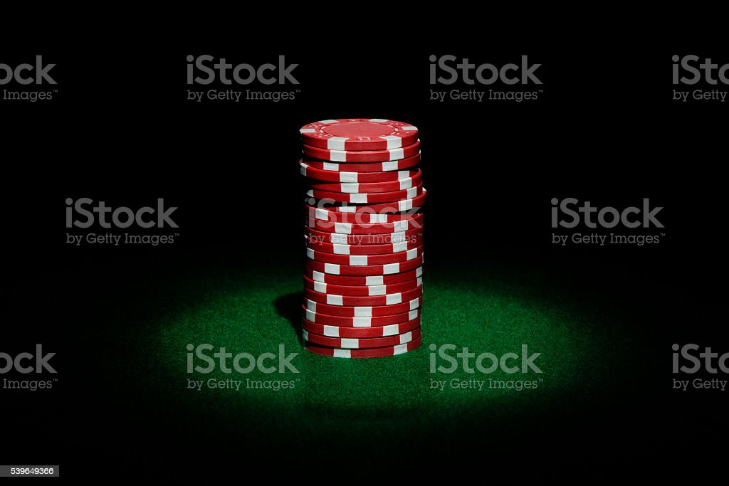 Single Pile of Casino Chips stock photo