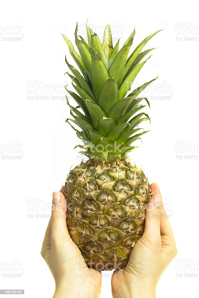 single pineapple royalty-free stock photo
