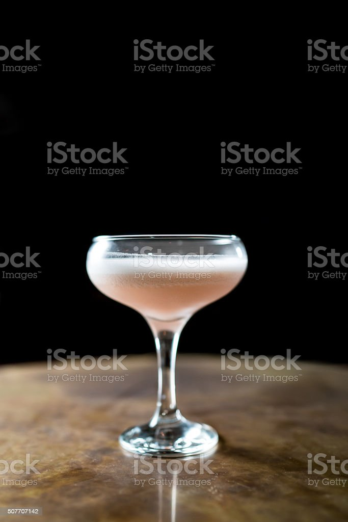 Single pink cocktail stock photo