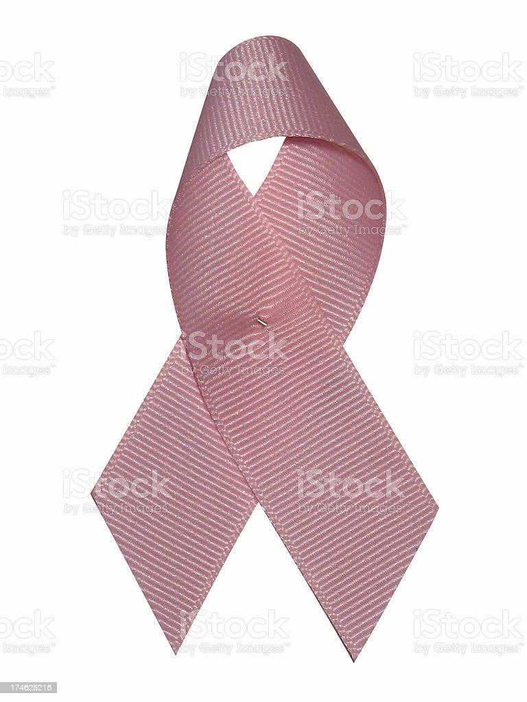 single pink ribbon pin royalty-free stock photo