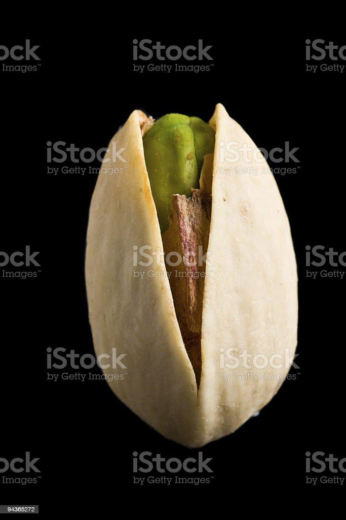 Single pistachio nut isolated royalty-free stock photo
