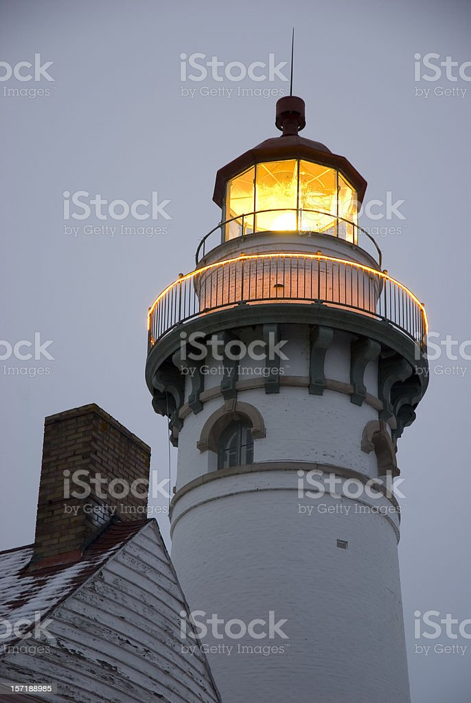 Seul Choix Point Lighthouse royalty-free stock photo