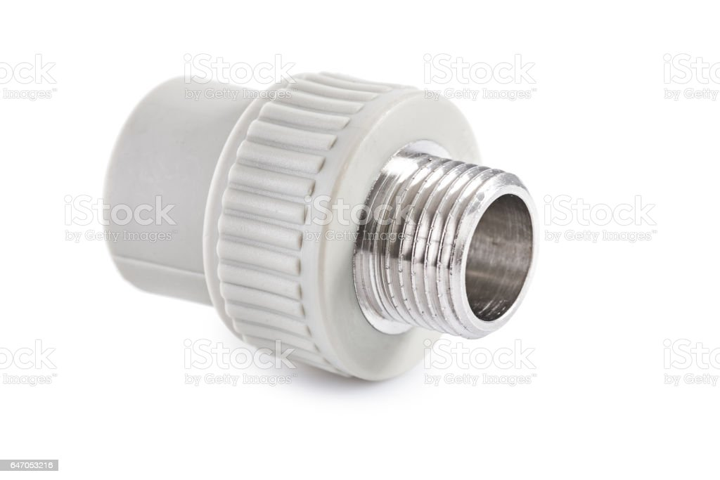 single polypropylene connector iso alted stock photo
