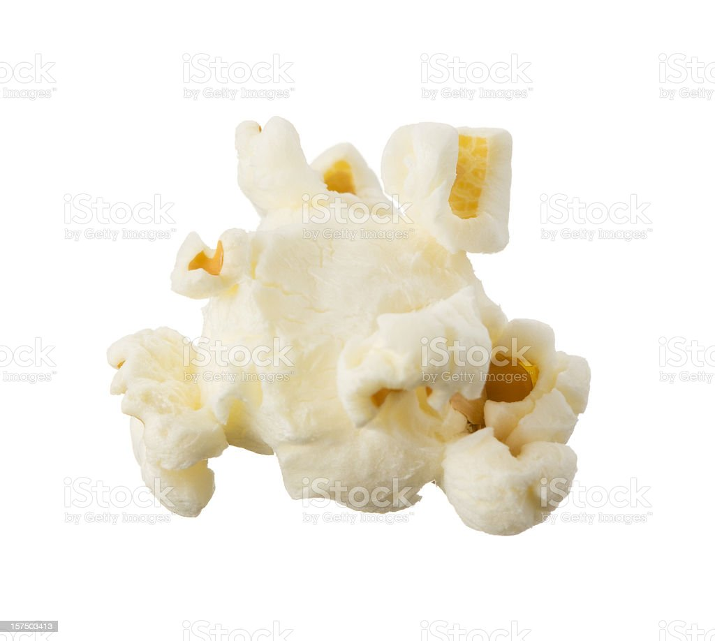 A Single Popcorn Kernel On A White Background Stock Photo & More ...