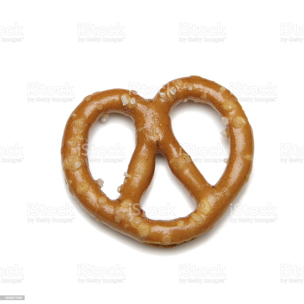 Single pretzel stock photo