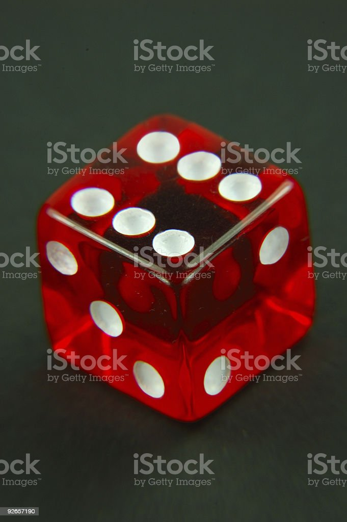 Single Red Die royalty-free stock photo