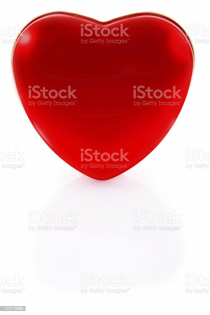 single red heart on white royalty-free stock photo