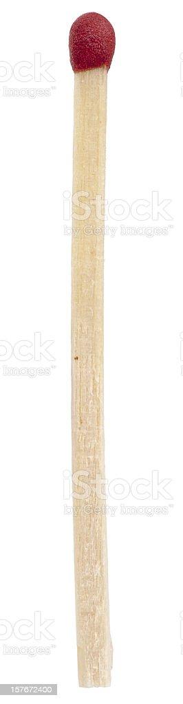single red match stick not lit stock photo