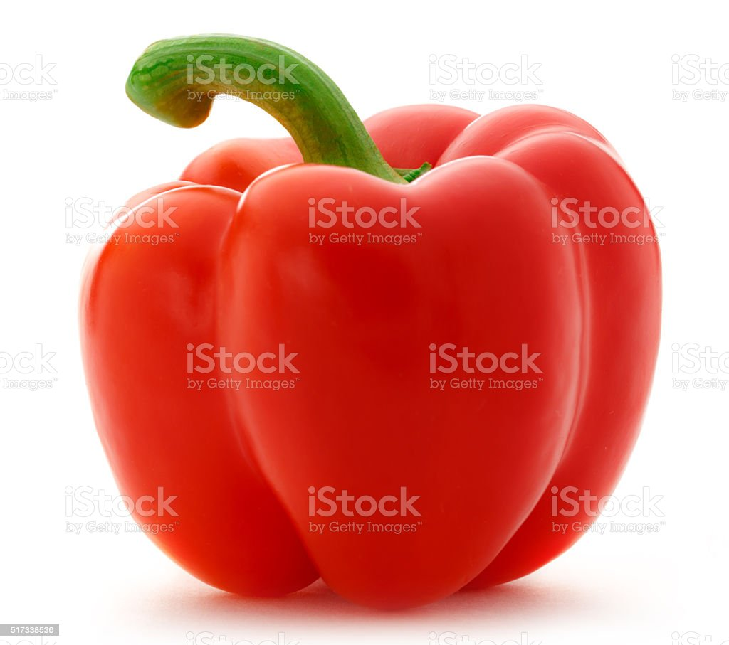 Single red paprika stock photo