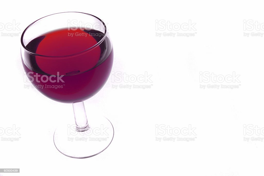 single red wine glass royalty-free stock photo