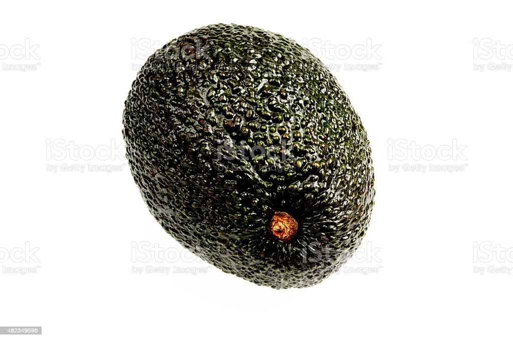 Single Ripe Avocado stock photo