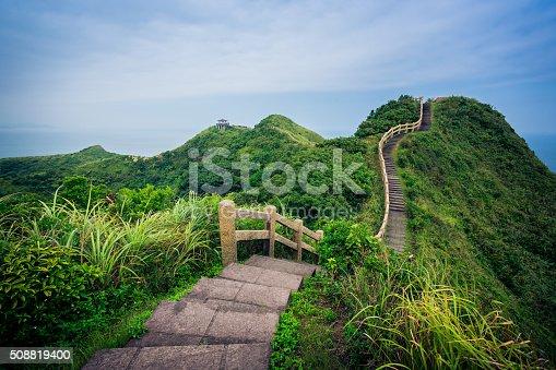 single road over mountain