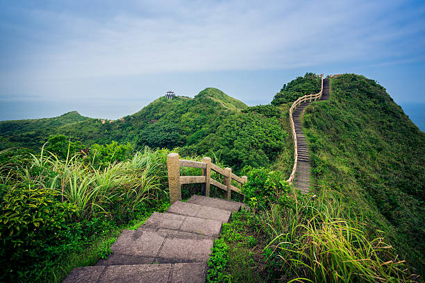 single road over mountain - walkway and bridge stock photos and pictures