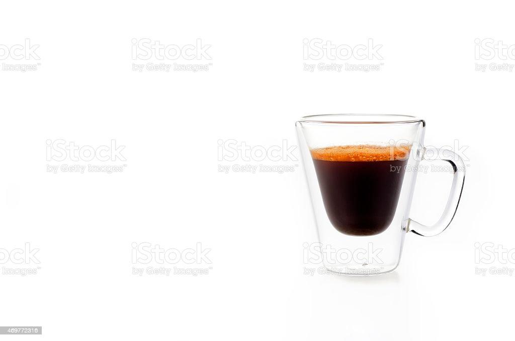 Single rooibos tea espresso cup on white background stock photo