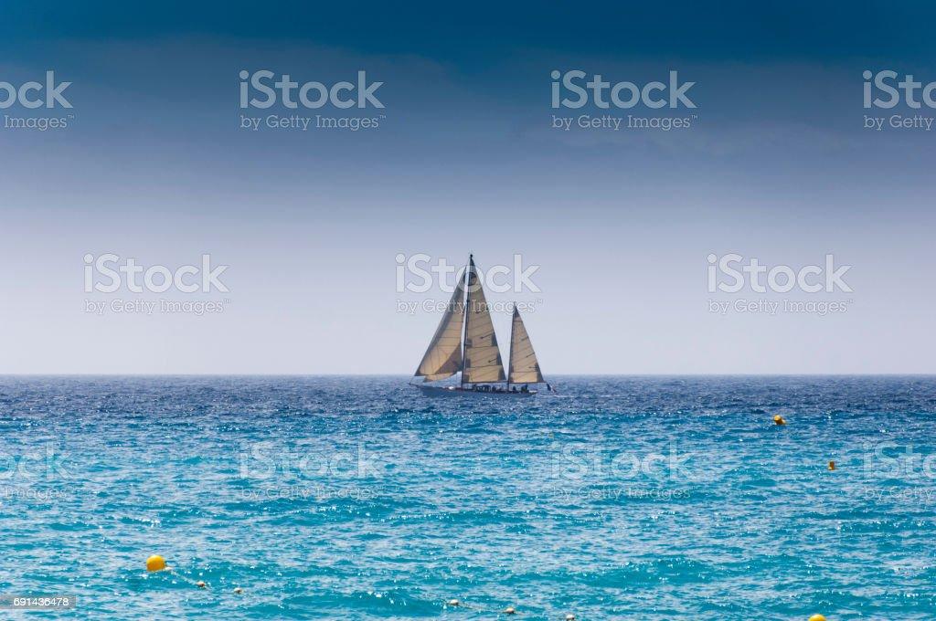 Single Sailboat stock photo
