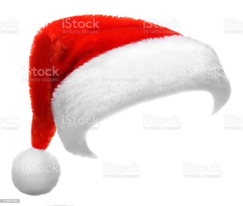 Immagini Cappello Di Babbo Natale.Cappello Di Babbo Natale Rosso Singolo Isolato Su Sfondo