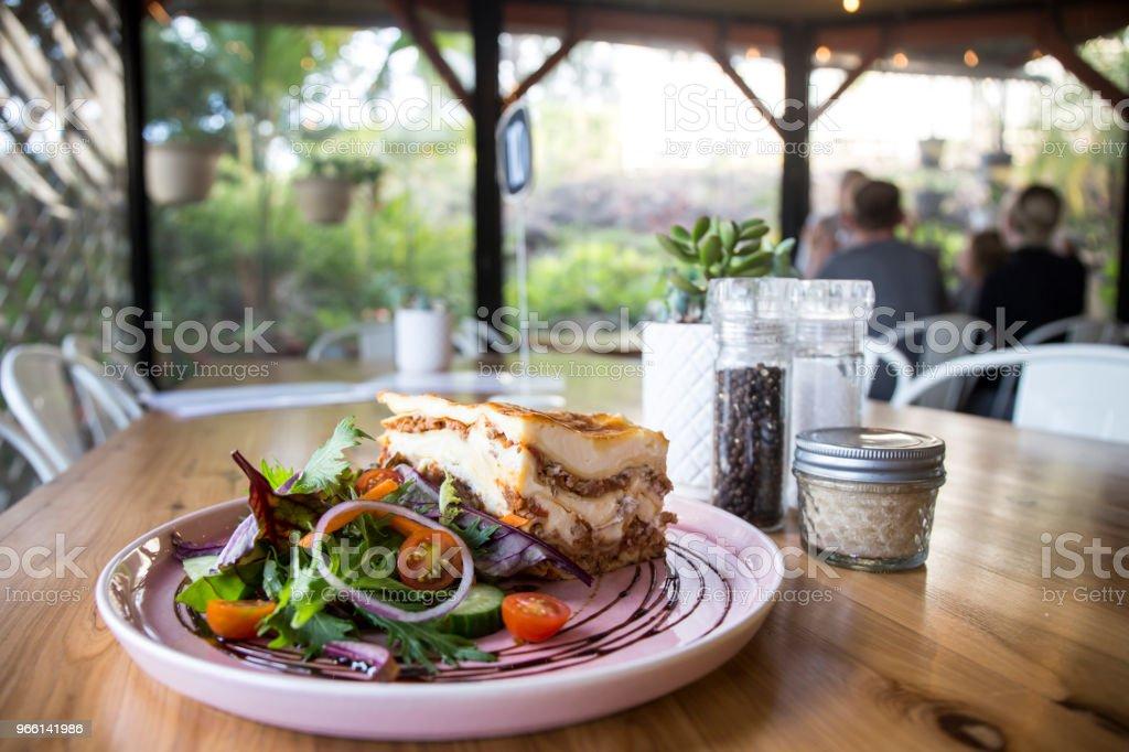 Single serving of Lasagna - Royalty-free Austrália Foto de stock