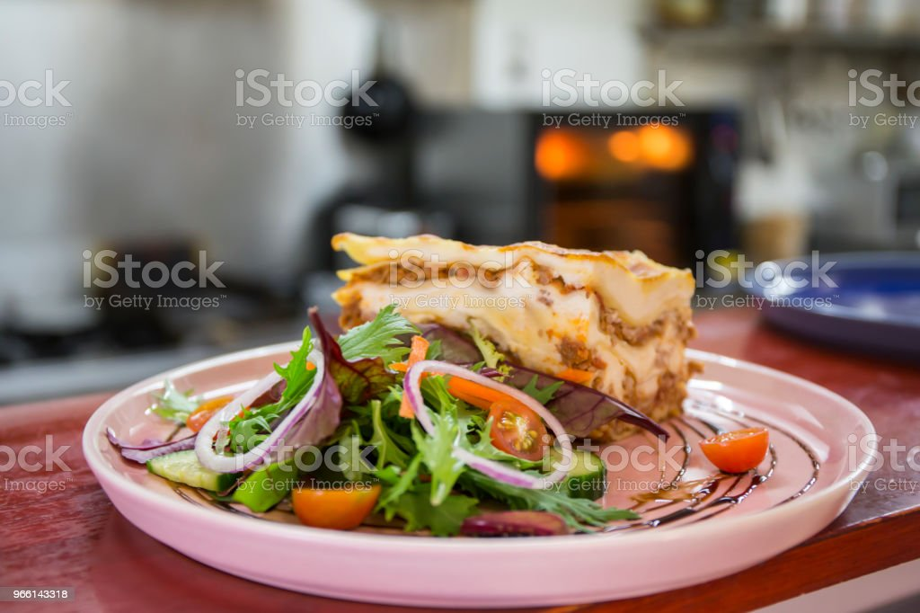 Single serving of Lasagna - Royalty-free Australia Stock Photo