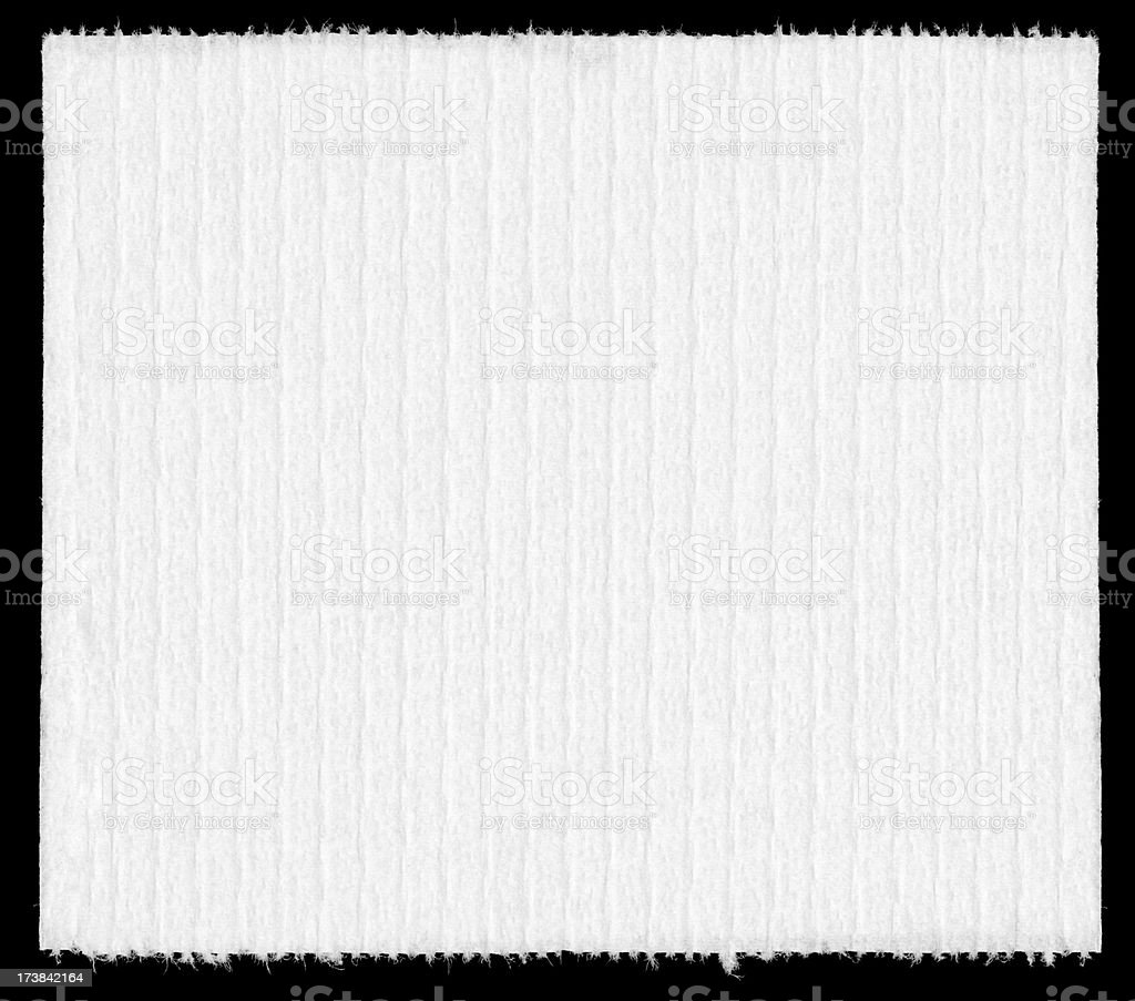 Single Sheet of Bathroom Tissue royalty-free stock photo