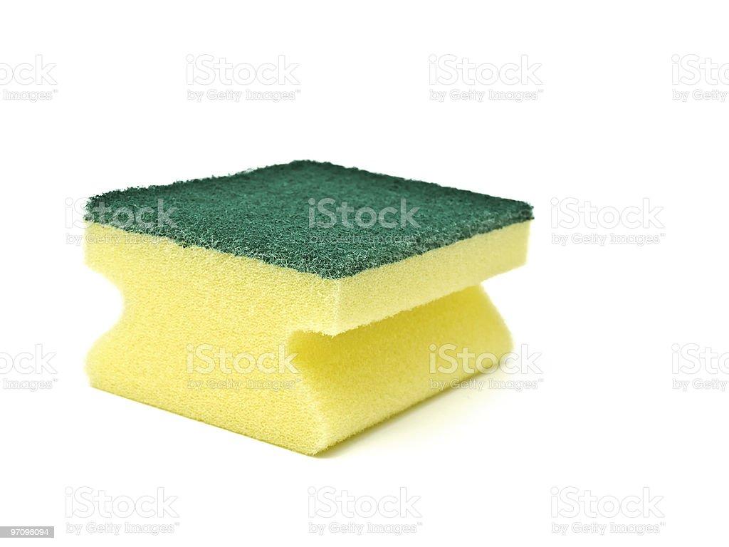 single sponge over white background royalty-free stock photo
