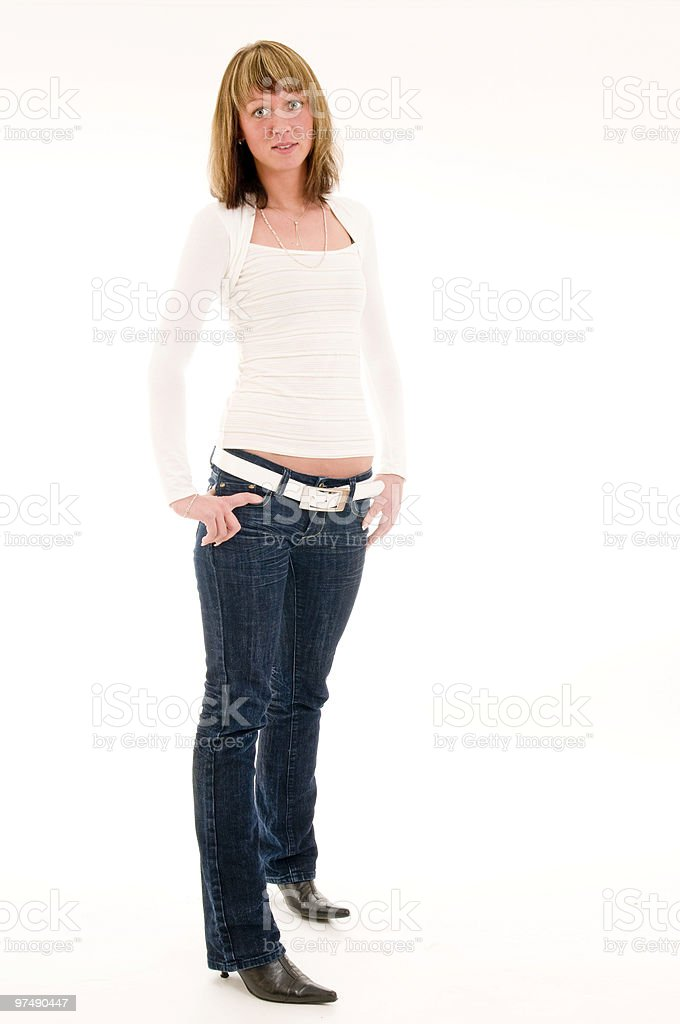 single standstill woman royalty-free stock photo