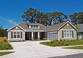 Thomasville, Georgia, USA – September 29, 2009:  Single story home with garage and tan siding.