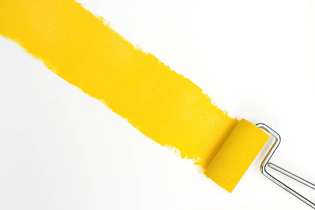 Single streak of yellow paint with rollers over white picture id93152709?b=1&k=6&m=93152709&s=612x612&w=0&h=zdj2rd7vuawhkdpxlyoffz6hu78jf6zljpu8ds8uw4y=