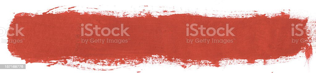 Single Thick Red Paint Line royalty-free stock photo