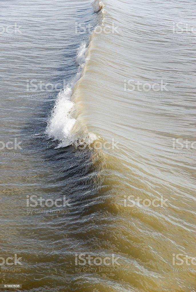 single tidal wave royalty-free stock photo