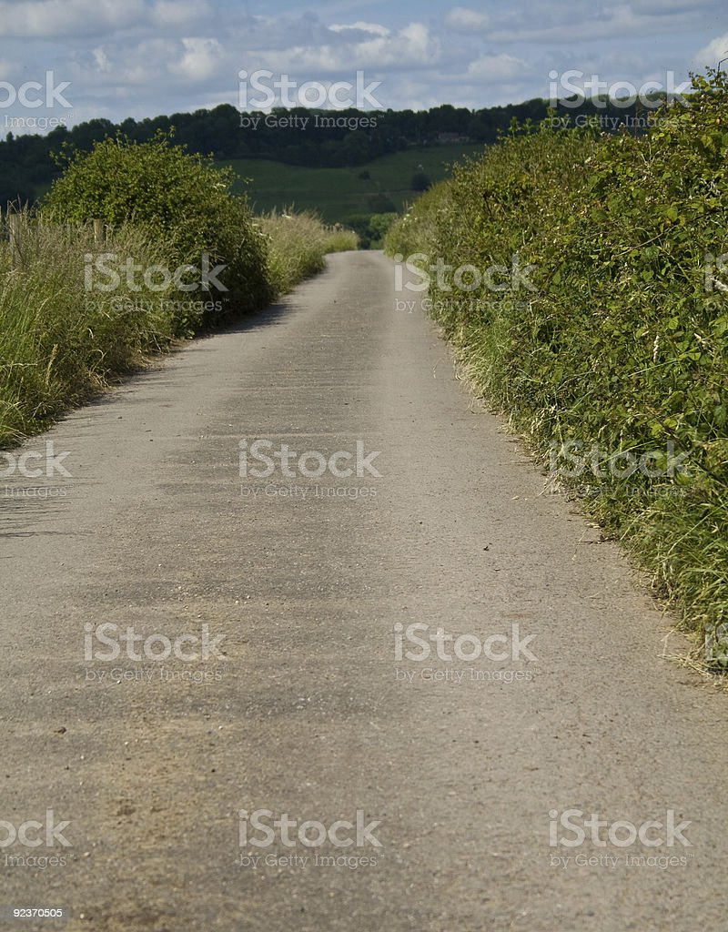Single Track Country Road royalty-free stock photo