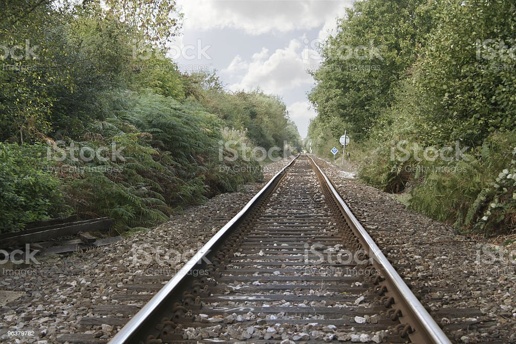 Single Track Railway stock photo