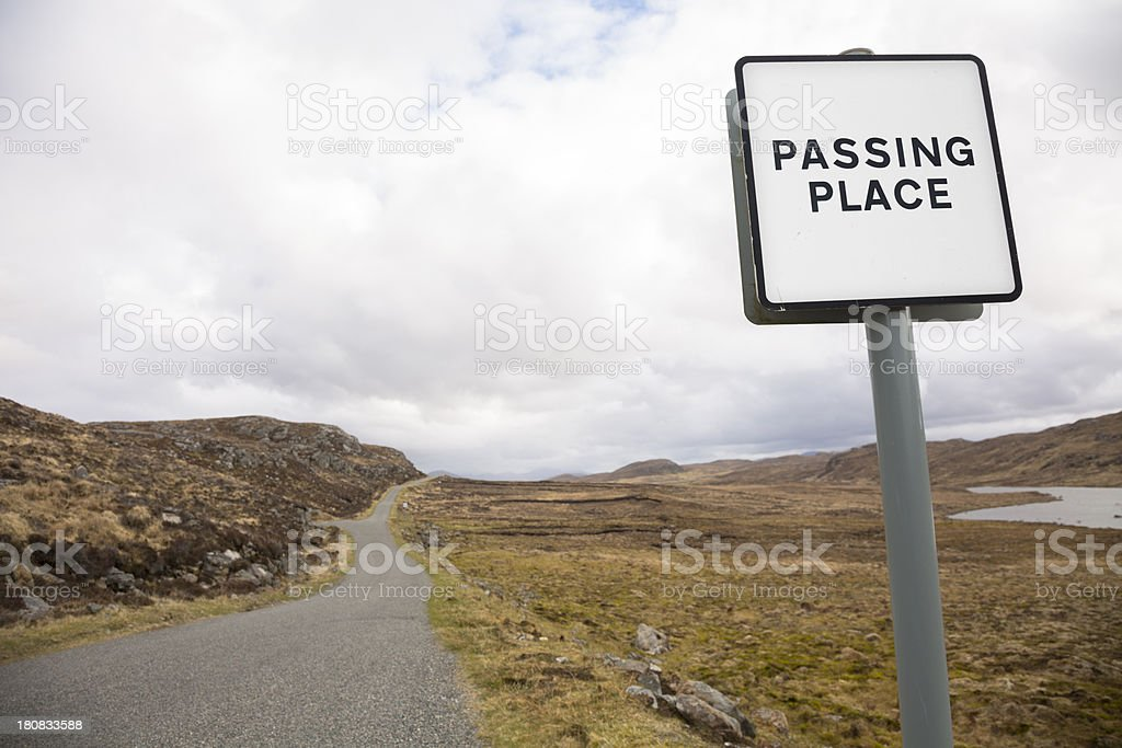 Single Track Road With Passing Places stock photo