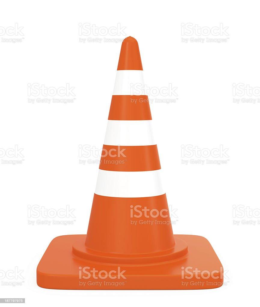 Um cone de trânsito - foto de acervo